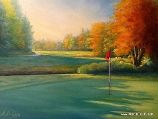 Vert no. 16 l'automne Golf Grand-Mère Mauricie Québec