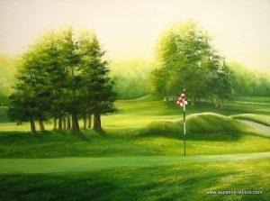 Matin vert no. 3 Golf Grand-Mere Mauricie Québec