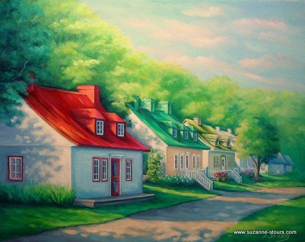 Maisons ancestrales de l'Ile d'Orléans Québec