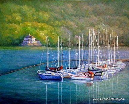 voiliers à la marina Grandes-Piles Mauricie
