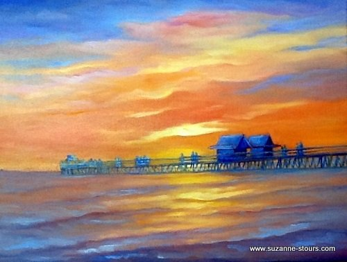 Floride Naples coucher de soleil sur le Pier