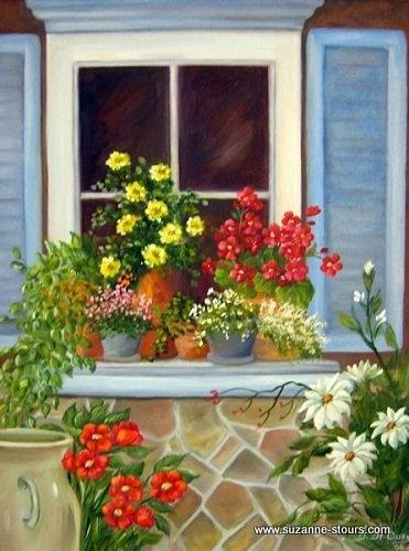 fenêtre fleurs