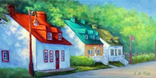 Maisons ancestrales, Ile d'Orléans, Québec