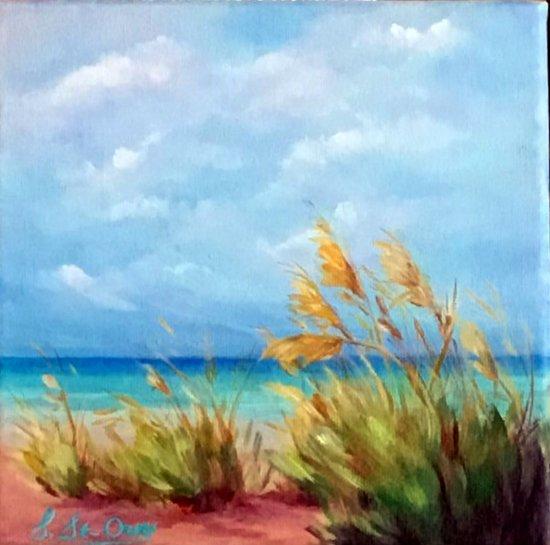Naples dunes graminées plage sable mer turquoise